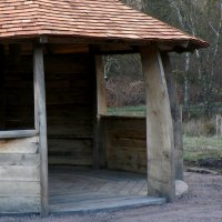 wooden roundhouse at Balloch Wood Community Project